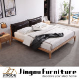 Het moderne Houten Bed van het Meubilair van de Slaapkamer Vastgestelde Stevige Houten voor Huis