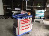 医学のトロリー価格に服を着せる病院のABSプラスチックステンレス鋼