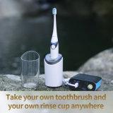 Secador incorporado End-Rounded Food Grade de dentes sónica de cerdas macias para ir