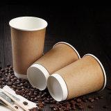 Одноразовые Heat-Resistant 12oz крафт-бумаги или чашки