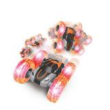 Jumping voiture avec roues gonflables et de lumière LED haute 2.4G Stunt Cyclone voiture RC avec de grandes roues gonflables avec roues d'alimentation batterie voiture jouet Flip RC Cyclone
