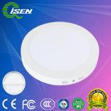 Luz do painel de LED redondos de superfície 6W