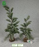 albero di Natale artificiale del PE di 0.5m per la decorazione - Woodround & neve