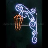 2017 neue LED-Weihnachtsim freienstraßen-Dekoration-2D Bell-Motiv-Lichter