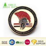 金製造者の中国の販売のためのカスタム金属3D亜鉛合金のマットの金のワシのレプリカの硬貨