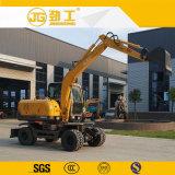 Jinggong fabricante oficial de 6 Ton pequeña Excavadora de ruedas hidráulicas