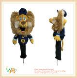 プラシ天によって詰められるライオンのゴルフクラブヘッドドライバーカバーおもちゃ