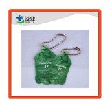 Venta caliente Hangtag con la cadena de ropa y monedero