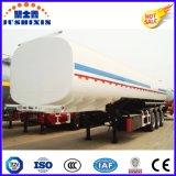 3 Kohlenstoffstahl-feuergefährliche Flüssigkeit-Ladung-Diensttanker-LKW-halb Schlussteil der Mittellinien-50cbm mit Silo 4