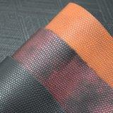 Классическая выбитая двойным напечатанная цветом кожа мешка PU кожаный синтетическая