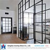 El claro/el plano endurecido/templaron/la gafa de seguridad para la pared/la puerta/el edificio