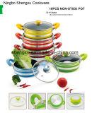 Ручка покрыла алюминиевый Non-Stick Stockpot бака сковороды для комплектов Sx-Yt-A010 Cookware