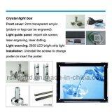Factory Direct Vendas LED de cristal caixa de luz