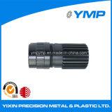 CNC de aluminio anodizado negro parte de mecanizado de metal con certificado ISO9001