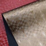 ダイヤモンド袋の靴のための織り目加工の人工的なPUののどの装飾の革