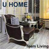 Sofà elegante di stile francese sezionale domestico del sofà di U