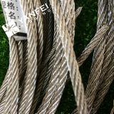 Galvanização em aço inoxidável, fio terminal, corda, rosca, fim