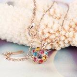 環境に優しい円形の多彩な吊り下げ式のネックレスのローズの金の方法宝石類