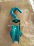 Bloco do preto do aço de molde da cor verde com gancho