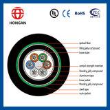 Base al aire libre del cable óptico GYTA53 264 de fibra del tipo del solo modo hecho en China