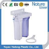 Filtro de Água em 2 estágios com claras e Alojamento Branco-1