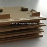 Plaque frontale à bas prix fabriquée en fonte d'alliage de zinc avec surface de revêtement en poudre