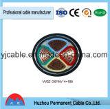 câble blindé galvanisé par Cu/XLPE/PVC/Swa/PVC de fil d'acier de 0.6/1kv Yjv32