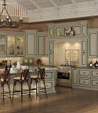 Sólidos de madeira branca personalizada simples livre Mobiliário de cozinha
