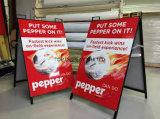 フレームの印に金属をかぶせるか、または、展覧会のFactoryequipmentの屋外のボード、掲示板、広告する表示旗の昇進のネオンサインの立場を広告するコーヒー売買しなさい