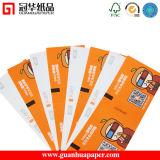 Papel de Customed de la impresión en color de la alta calidad/boleto de la puerta