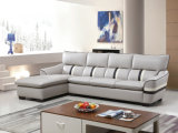Canapé en cuir moderne, canapé d'angle, meuble en forme de L (961)