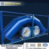 Curvatura di tubo rivestito di ceramica dell'allumina per il trasporto della polvere della polvere