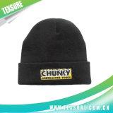 3D刺繍が付いている平手打ちされた白い帽子によって編まれる冬の帽子(055)