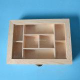 Boîte d'affichage à la main faite sur mesure au bois de pin à l'écologie avec fenêtre claire