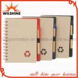 Caderno de papel reciclado com caneta esferográfica de papel para promoção (SNB108A)