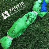 7: 1 2ton Green Polyester Round Sling com etiqueta personalizada Ce e Wll Mark