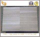 Polished белый деревянный зернистый мрамор для плиток Floor&Wall