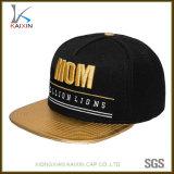 El bordado de cuero de encargo del oro del borde se divierte los casquillos de los sombreros del Snapback
