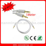 kabel van de Stop van 3.5mm 4-Pool Aux de Stereo Audio