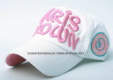 Fabrik-Zubehör passte Zeichen gestickten Baumwollfördernden Sport-Baseball-Hut an