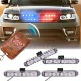 Alquiler de 4X4 DRL LED Mando a distancia inalámbrico 12V de automóviles de la policía advertencia estroboscópica LED parpadea la luz Alquiler de carretilla emergen de ambulancia de Bomberos