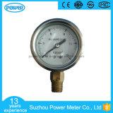 2inch-50mm 절반 스테인리스 바닥 스레드 유형 액체에 의하여 채워지는 압력 계기