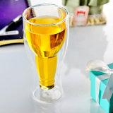 도매 Handmade 두 배 벽 유리제 맥주 컵 (CHT8607)