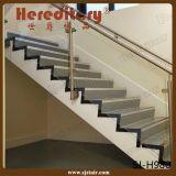 Балюстрада нержавеющей стали стеклянная с верхним поручнем для лестницы (SJ-S097)