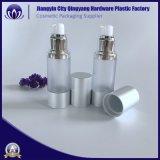 En Stock 15ml 30ml 50ml de nata líquida frasco cosmético botellas con bomba Airless Spray plateado/tapa