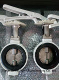 JIS 10k Válvula Borboleta Tipo Wafer de alumínio com CF8 Disc