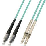 Cavo di zona ottico duplex della fibra di FC-LC Om3