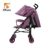 Estrutura de aço leve carrinho de bebé Pram com rodas de EVA