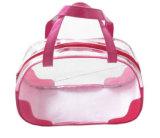 La venta caliente se levanta las bolsas de plástico claras del PVC para los cosméticos (FLC-9105)