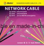 Cable del LAN SFTP Cat5e de la red con el tejido del Tc del Al y el blindaje doble